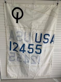 """Rustic Recycled Opti sail 48""""  Shower Curtains by SailAgainBags"""