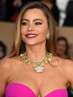 SAG Awards 2016: The Best Beauty Looks of the Night | People - Sofia Vergara's bold lipstick and sexy eye makeup