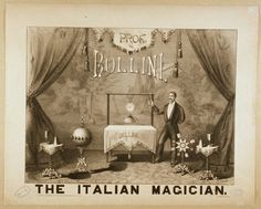 Prof. Bollini the Italian magician lithograph (c. 1879)