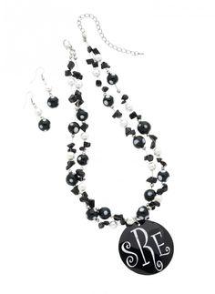 Doodle Bug Designs - Black Dot Necklace Set ON SALE
