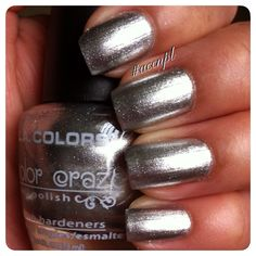 Two coats and no top coat of Live by LA Colors. #nails #nailpolish #swatches #LAColors .     Instagram: accnpl