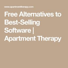 Free Alternatives to Best-Selling Software Great Philosophers, Apartment Therapy, Holiday Cards, Card Displays, Software, Alternative, Told You So, Computers, Free