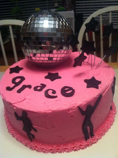 Dance party cake