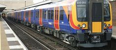 Siemens Class 450 Desiro emu no 450 015 in South West Trains livery I think at Woking but I may be wrong. South West Trains, British Rail, Emu, Locomotive, Britain, Locs