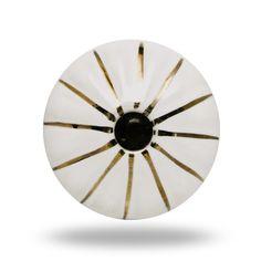 Ceramic Retro Knob with Gold Lines