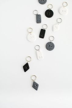 How to make monogrammed keychains out of clay