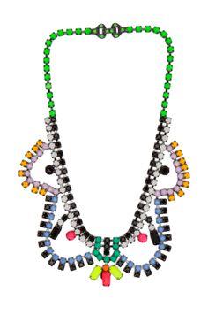Tom Binns | Dot Dash Necklace in Black Multi
