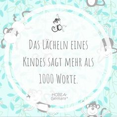 """""""Das Lächeln eines Kindes sagt mehr als 1000 Worte."""" """"The smile of a child says more than. Valentine's Day Quotes, Yoga Quotes, Crush Quotes, Happy Valentines Day Images, Valentines Day Presents, Instagram Frame, Instagram Quotes, Singles Holidays, Happy Love"""