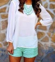 Love this look for summer.