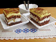 Prajitura frantuzeasca are o combinatie perfectă de gusturi si culori: maro cu alb si galben! Are un aspect placut si este spornica.