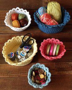Nesting Baskets Crochet Pattern