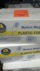 Sunset: Medium Weight Plastic Forks 1000 Ct.