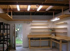 DIY L shape garage workbench ideas