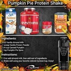 You can use skim milk, soymilk, or almond milk and your favorite brand of vanilla whey protein powder. Turned out to be very good flavor. Used my Designer Whey protein powder. Protein Diets, Protein Snacks, Whey Protein, Protein Power, Protein Powder Recipes, Protein Shake Recipes, Smoothie Recipes, Healthy Smoothies, Healthy Foods