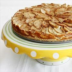 Bavarian Apple Cheese Cake Tart from Food.com:   								Such a beautiful tart - just like from a European bakery, and delicious to boot! from worldwiderecipes I believe.