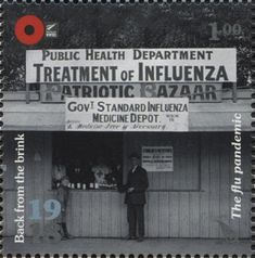 Stamp: The flu pandemic (New Zealand) (1918 Back From The Brink) WAD:NZ025.18