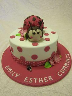 Lady Bug Cake maybe in red and black Ladybug Cakes, Ladybug Party, Cupcakes, Cupcake Cakes, Ladybird Cake, One Tier Cake, Cake Decorating For Kids, Girly Cakes, Mom Cake