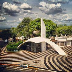 Praça da Bandeira em Tupã, SP