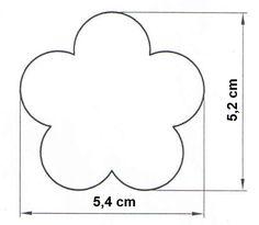 Výsledek obrázku pro šablona kytka