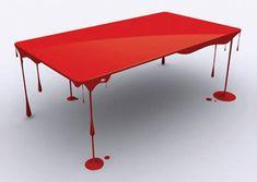 Paint drip tableby Designer John Nouanesing
