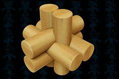 Простой узел деревянная головоломка, игрушка - файлы parasolid,программа SolidWorks - 3D модели - GrabCAD