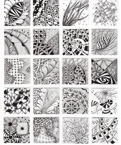 How to Zentangle Patterns Free | Zentangle Patterns & Ideas