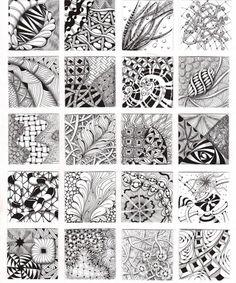 How to Zentangle Patterns Free   Zentangle Patterns & Ideas