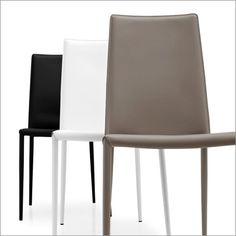 The new Boheme dining chair by Calligaris features a slightly lower backrest and a stylish sleek design that fits into a multitude of dining areas. #furniture #modernfurniture #chair #stool #livingroom #diningchair