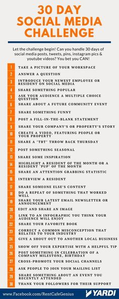 30 Day Social Media challenge - Finance tips, saving money, budgeting planner Social Media Challenges, Social Media Calendar, Social Media Content, Social Media Tips, Instagram Design, Tips Instagram, Instagram Story, Instagram Challenge, Business Marketing