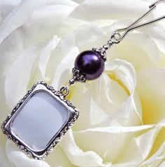 Wedding bouquet photo charm. Gift for the bride. by SmilingBlueDog