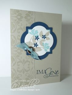 "Aussie Marelle Taylor's GORGEOUS ""imagine"" card."