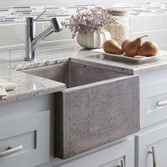 "Native Trails NSB1515 Ventana 15"" Single Basin Undermount NativeStone™ Kitchen S Ash Fixture Kitchen Sink Stone"