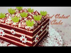 Kedves vörös bársonyos sütemény recept / Red Velvet Cake / krémsajtos cukormáz / csésze mérés - YouTube Red Velvet Cake, Velvet Cream, Party Desserts, No Bake Desserts, Resep Cake, Sweet Cakes, Cream Cheese Frosting, Cream Cake, Cupcake Cakes