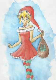 engl.: A little elf girl :3 she brings presents for all of you XD and a Merry Christmas from me to you ^.^ (it's a little fail but yeah XD the idea count right?) VIDEO LINK: http://www.youtube.com/watch?v=hNJW1pPnImQ