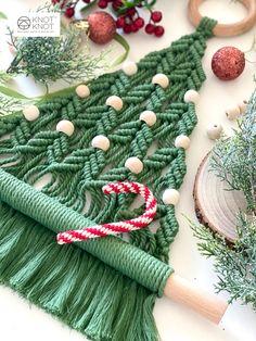 Macrame Art, Macrame Design, Macrame Knots, Handmade Christmas, Christmas Ornament, Christmas Crafts, Xmas, Macrame Supplies, Macrame Projects