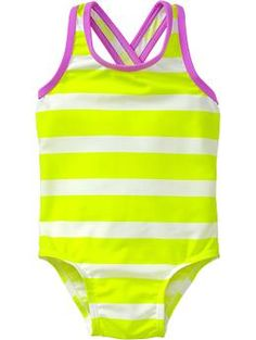 Striped Cross Back Swimsuits for Baby | Old Navy - on sale