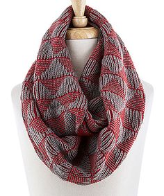 Red Triangle Stripe Infinity Scarf #zulilyfinds