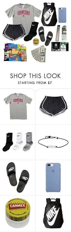 """""""stashhhh :))"""" by pastikamariel on Polyvore featuring NIKE and Carmex"""