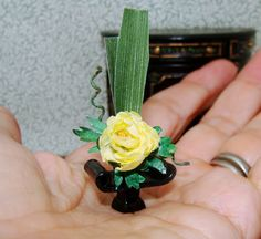 Ikebana Peony arrangement  OOAK  Introductory price by beauxminis, $18.00