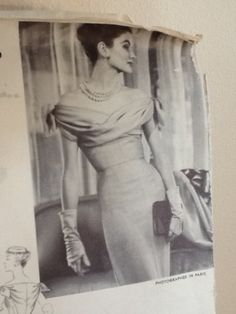 1954 Vogue Paris Original 1265 Dress Sz16 Jacques Fath 325+3.5 on 8/12/13 12bds