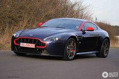 Aston Martin V8 Vantage N430 in marina blue and lipstick red.