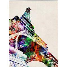 Trademark Art 'Eiffel Tower' Canvas Art by Michael Tompsett - Walmart.com
