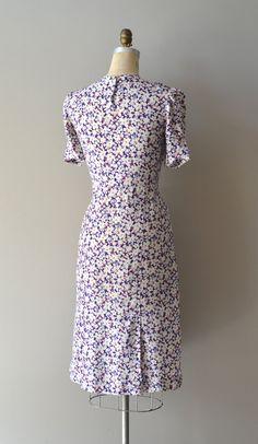1930s dress / rayon 30s dress / Fields of Larkspur dress. $224.00, via Etsy.