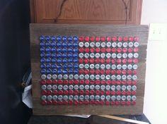bottle cap flag