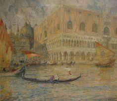 FERRUCCIO SCATTOLA (Italian, 1873 - 1950) Veduta di Venezia con Palazzo Ducale, 1913
