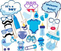 Apoyos de la foto de ducha del bebé: Bebé ducha por stickericashop