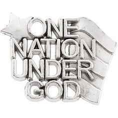 Sterling Silver One Nation Under God Lapel Pin -- You can find out more details at the link of the image.