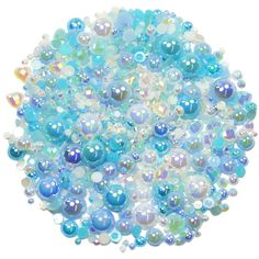 This embellishment pack contains a luscious mixture of rhinestones and pearls in tones of blue and white The sparkly gems range in size from to Decoden, Nail Decorations, Ipad Case, Embellishments, Card Making, Packing, Gems, Blue And White