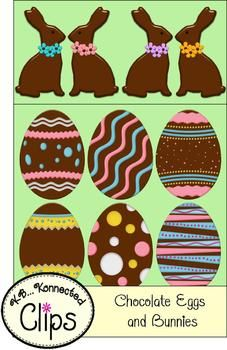 Chocolate Eggs and Bunnies - Commercial use - Free for 1 week! (3/8-14/13)