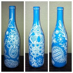Wine bottle art...my first try!!